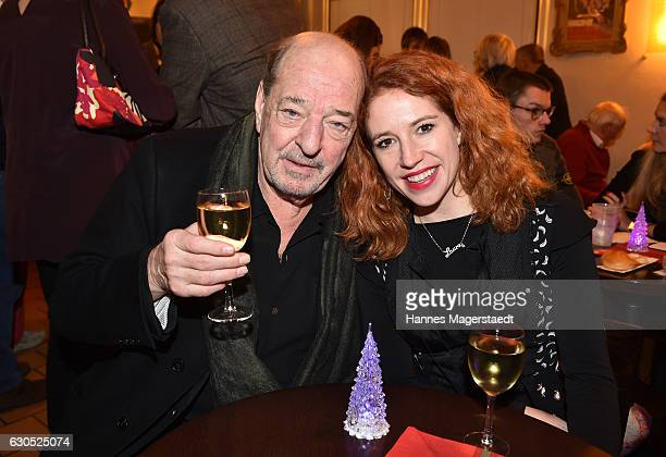 Ralph Siegel and his girlfriend Laura Kaefer during the premiere of 'Tierisch gut' at Circus Krone on December 25 2016 in Munich Germany