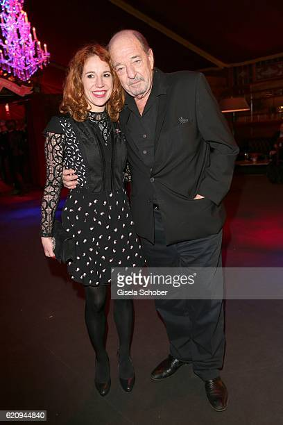 Ralph Siegel and his girlfriend Laura Kaefer during the VIP premiere of Schubeck's Teatro at Spiegelzelt on November 3 2016 in Munich Germany