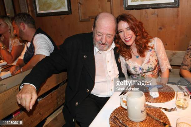 Ralph Siegel and his wife Laura Kaefer during the Oktoberfest 2019 at Kaeferschaenke beer tent / Theresienwiese on September 29 2019 in Munich Germany