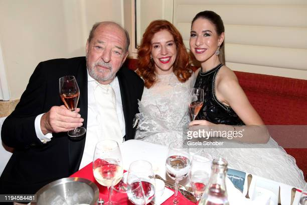 Ralph Siegel and his wife Laura Siegel and his daughter Alana Siegel during the 47th German Film Ball party at Hotel Bayerischer Hof on January 18...