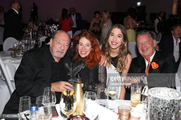 Ralph Siegel and his wife Laura Siegel daughter Alana Siegel and half brother Joerg Woltmann during the 7th Fashion Charity Dinner and the Best of...