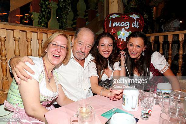 Ralph Siegel and Kelly Presley during the Oktoberfest 2015 at Kaeferschaenke at Theresienwiese on September 26 2015 in Munich Germany