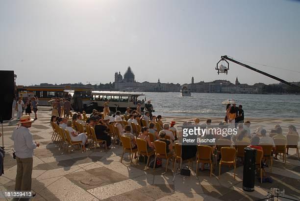 Ralph Siegel Ehefrau Kriemhild Jahn Dreh zum Musikfilm Eine Nacht in Venedig mit K R I E M H I L D J A H N Basilica San Giorgio Maggiore Venedig...