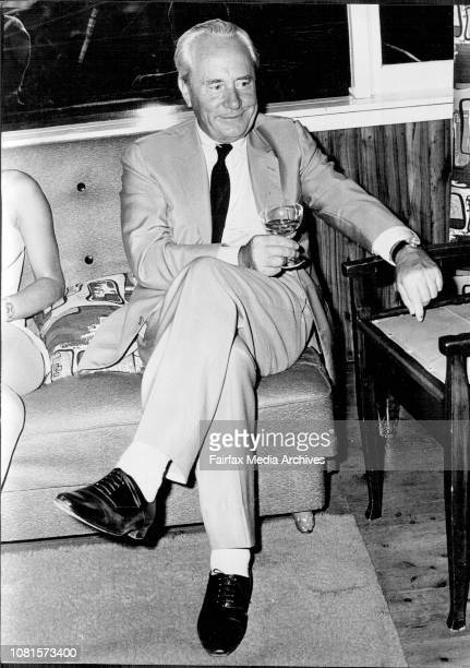 Ralph Smart producer of Riptide watches the premiere at Mr L Becker's home at Dee Why February 05 1969
