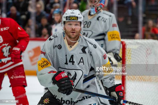 Ralph Stalder in action during the Swiss National League game between Lausanne HC and HC FribourgGotteron at Vaudoise Arena on January 25 2020 in...