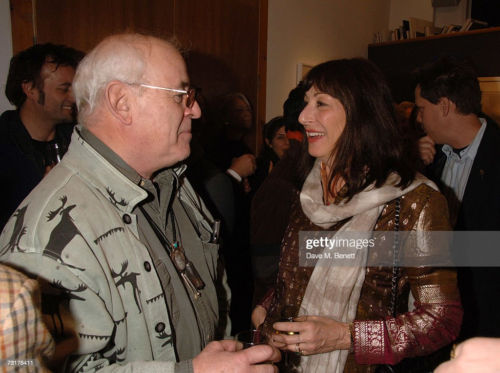 Ralph Steadman and Anjelica Huston attend the private view of 'Hunter S Thompson: Gonzo' at the Michael Hoppen Gallery February 1, 2007 in London, England.