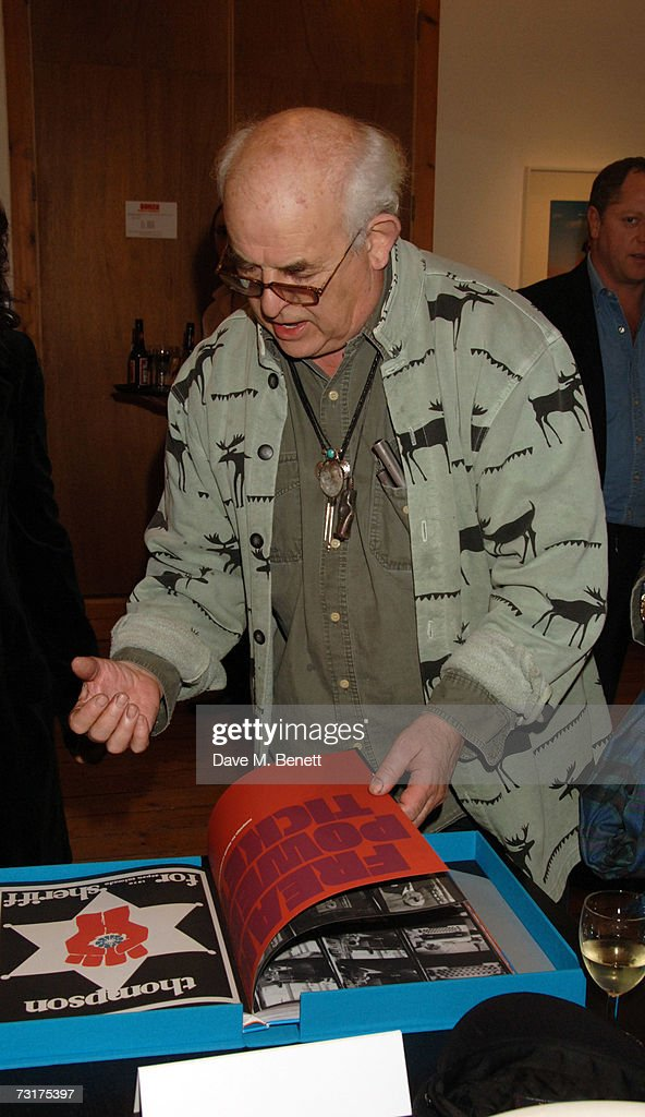 Ralph Steadman attends the private view of 'Hunter S Thompson: Gonzo' at the Michael Hoppen Gallery February 1, 2007 in London, England.