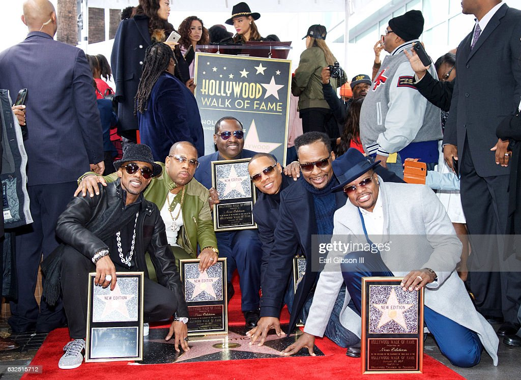 New Edition Honored With Star On The Hollywood Walk Of Fame : News Photo