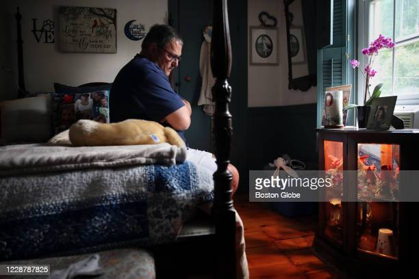 Ralph Trotto talks about his mother, Frannie, while sitting for portrait in his bedroom at his home in Holden, MA on August 25, 2020. The room is...