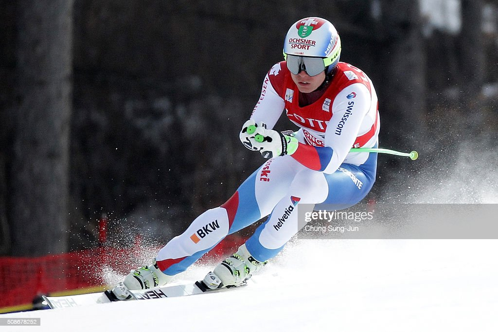 Ralph Webber of Swiss competes in the Men's Downhill Finals during the 2016 Audi FIS Ski World Cup at the Jeongseon Alpine Centre on February 6, 2016 in Jeongseon-gun, South Korea.
