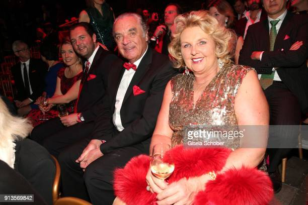 Ralph Weyler and his wife Birgit Weyler during Michael Kaefer's 60th birthday celebration at Postpalast on February 2 2018 in Munich Germany