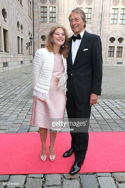 RalphMichael Nagel and his wife Sabina Nagel during a charity dinner hosted by AMADE Deutschland and Roland Berger Foundation at Kaisersaal der...