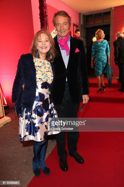 RalphMichael Nagel and his wife Sabina Nagel during Michael Kaefer's 60th birthday celebration at Postpalast on February 2 2018 in Munich Germany