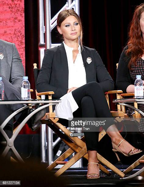 RAly Michalka for the 'iZombie' television show speaks onstage during the 2017 Winter TCA Tour Panels CW held at The Langham Huntington Hotel and Spa...