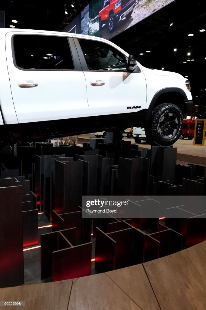 Ram 1500 Truck is on display at the 110th Annual Chicago Auto Show at McCormick Place in Chicago, Illinois on February 9, 2018.