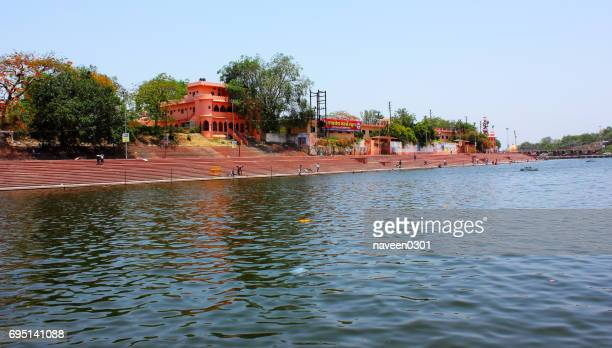ram ghat in ujjain, madhya pradesh, india - indore stock photos and pictures