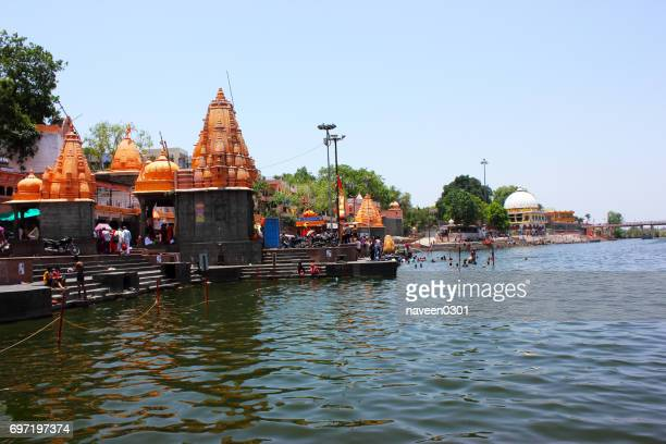 ram ghat in ujjain, madhya pradesh, india - madhya pradesh stock pictures, royalty-free photos & images
