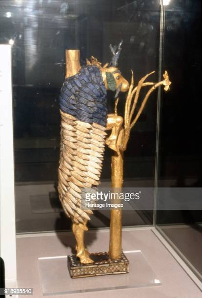 Ram or Goat in a Bush from Ur Early Dynastic 2600 BC Statuette of a goat perched against a bush looking for food in gold and lapis lazuli Ur was an...