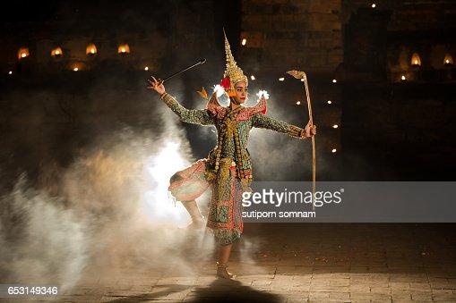 KHON THAI Rama Character in Ramayana story  In Thai literature