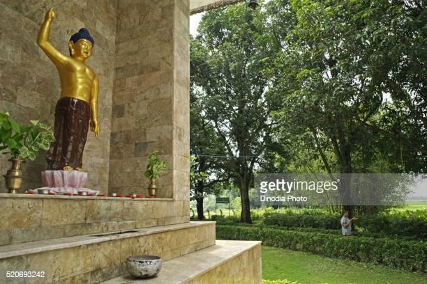 rama grama sakyamunybuddha, unesco world heritage lord buddha's birthplace at lumbini, nepal - 名作 発祥の地 ストックフォトと画像