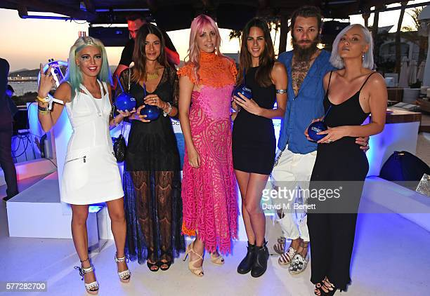 Rama Lila Marsica Fossati Amber Le Bon Brina Knauss Andrea Marcaccini and Petra Anton attend the CIROC On Arrival party in Ibiza hotspot Destino as...