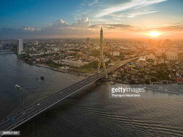 rama viii bridge - vishnu stock photos and pictures