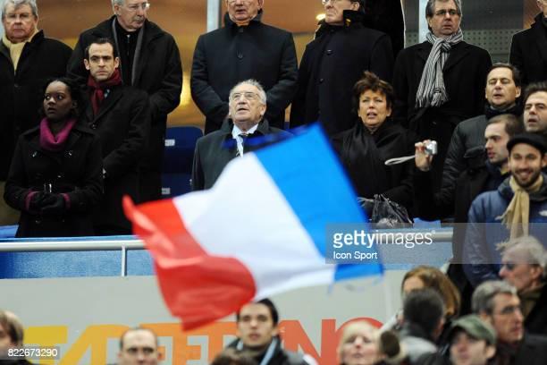 Rama YADE / Jean Pierre ESCALETTES / Roselyne BACHELOT / Eric BESSON France / Espagne Match amical Stade France Saint Denis Paris