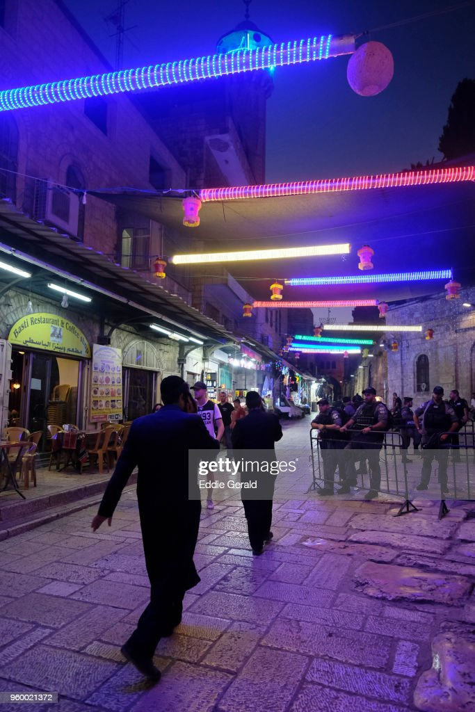 Ramadan atmosphere in the old city of Jerusalem : Stock-Foto