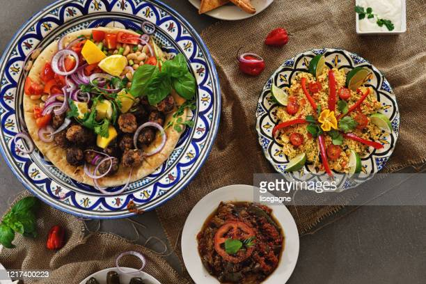 ramadan buffet - couscous stock pictures, royalty-free photos & images