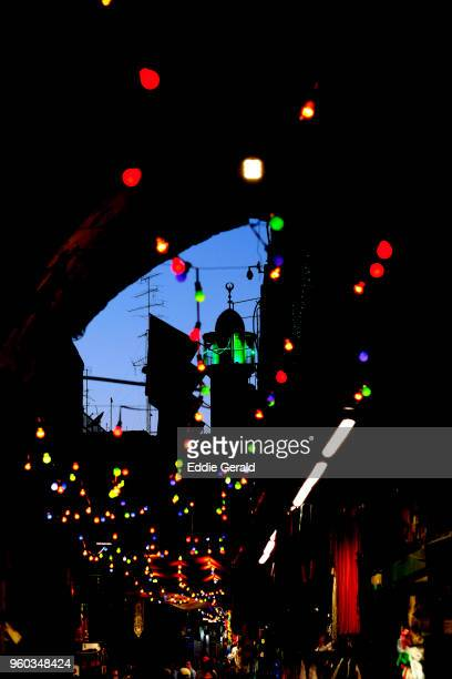 ramadan decorations in the old city of jerusalem - ramadan decoration stock pictures, royalty-free photos & images
