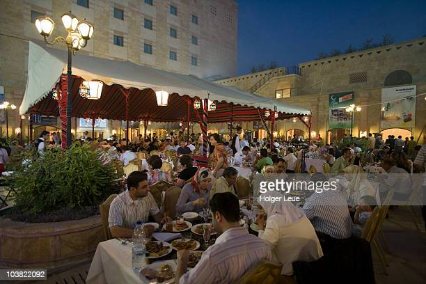 ramadan iftar buffet, sheraton aleppo hotel. - iftar stock pictures, royalty-free photos & images