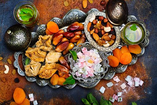 Ramadan Kareem holiday table 694422690