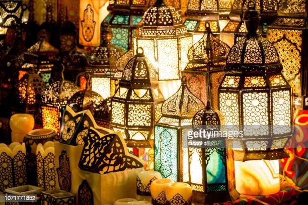 ramadan lanterns - eid mubarak stock pictures, royalty-free photos & images