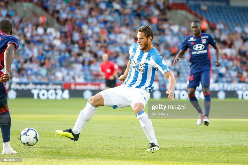 Ramadan Sobhi of Huddersfield Town during the Huddersfield Town v Olympique Lyonnais - Pre-Season Friendly at John Smith's Stadium on July 25, 2018 in Huddersfield, England.