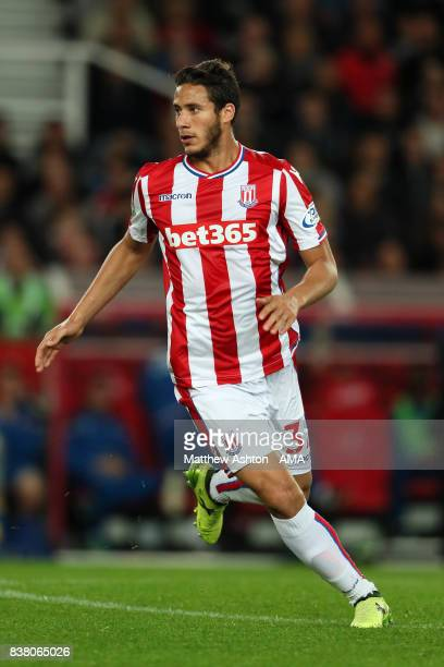 Ramadan Sobhi of Stoke City during the Carabao Cup Second Round match between Stoke City and Rochdale at Bet365 Stadium on August 23 2017 in Stoke on...