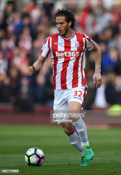 Ramadan Sobhi of Stoke City during the Premier League match between Stoke City and Arsenal at Bet365 Stadium on May 13 2017 in Stoke on Trent England