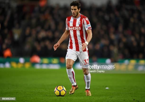 Ramadan Sobhi of Stoke City during the Premier League match between Stoke City and West Ham United at Bet365 Stadium on December 16 2017 in Stoke on...