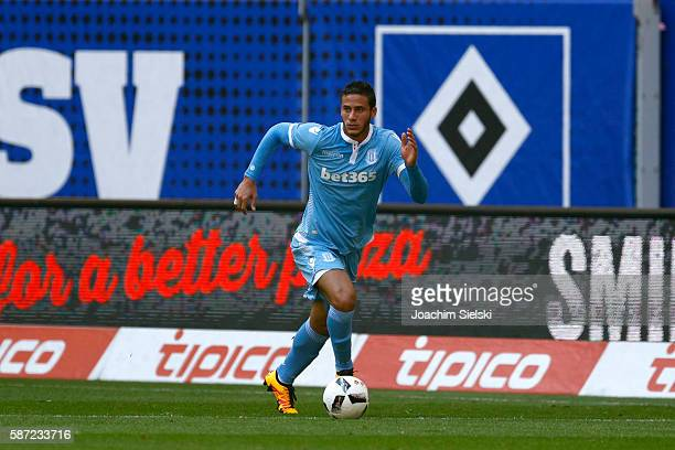 Ramadan Sobhi of Stoke City during the preseason friendly match between Hamburger SV and Stoke City at Volksparkstadion on August 6 2016 in Hamburg...