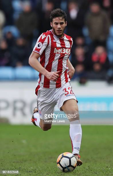 Ramadan Sobhi of Stoke City in action during The Emirates FA Cup Third Round match between Coventry City and Stoke City at Ricoh Arena on January 6...
