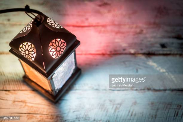 ramadan table with lantern - ramadan stock pictures, royalty-free photos & images