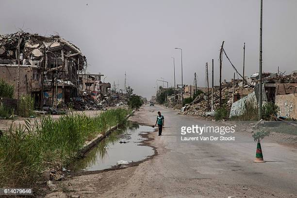 Ramadi Anbar Iraq le May 12th 2016nDestructions by bombing of the coalition fights Isis mines and IED in Ramadi retaken by the army at he end of the...
