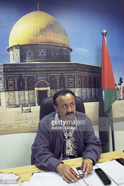 Palestinian parliament member Marwan Barghouthi sits in his office in the West Bank town of Ramallah 14 October 2000 Barghouthi is the man Israeli...