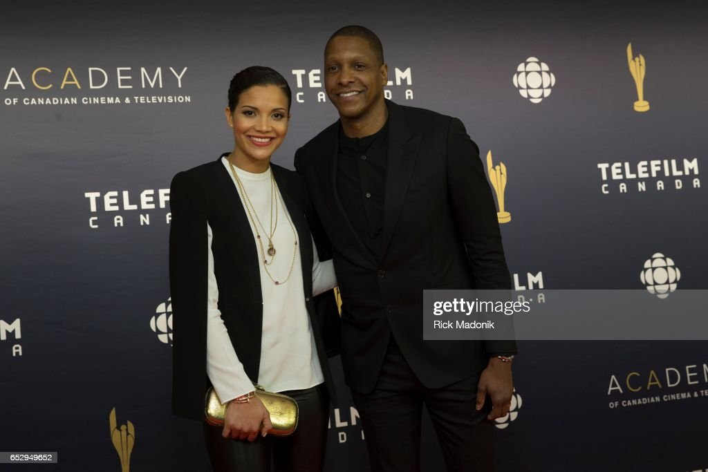 Ramatu and Masai Uriji. Canadian Screen Awards red carpet at Sony Centre for the Performing Arts ahead of the show.