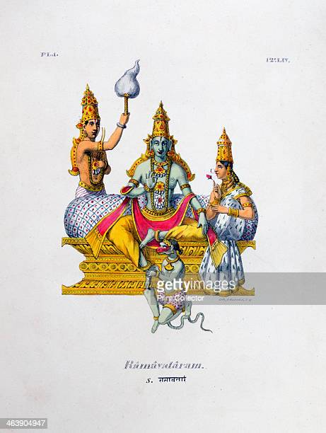 'Ramavataram' 1828 A lithograph from L'Inde Français 1828 From the collection of Jean Claude Carriere