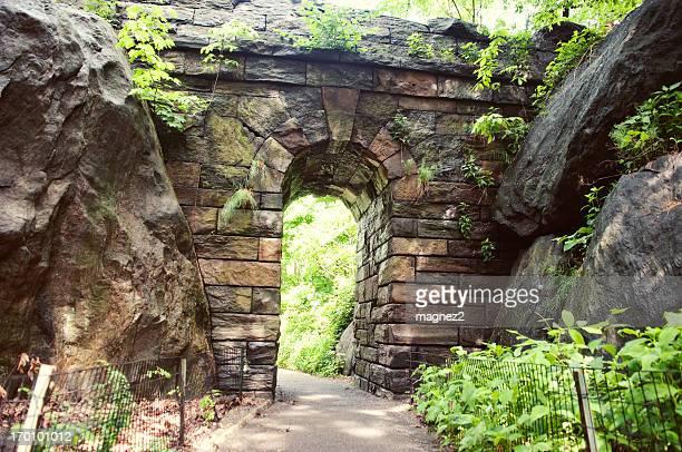 Damos umas voltas Arco de pedra no Central Park