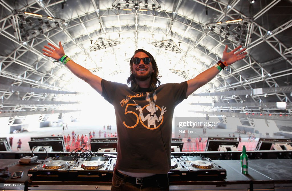 DJ Rambo V performs in the Sahara Tent during day 3 of the Coachella Valley Music And Arts Festival (Weekend 1) at the Empire Polo Club on April 16, 2017 in Indio, California.