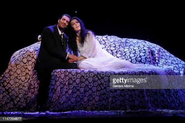 "Rame Lahaj and Adela Zaharia perform in Los Angeles Opera's production of Verdi's ""La Traviata,"" at the Dorothy Chandler Pavilion in Los Angeles on..."