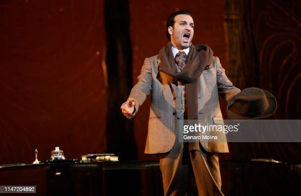 """Rame Lahaj performs in Los Angeles Opera's production of Verdi's """"La Traviata,"""" at the Dorothy Chandler Pavilion in Los Angeles on May 30, 2019. This..."""
