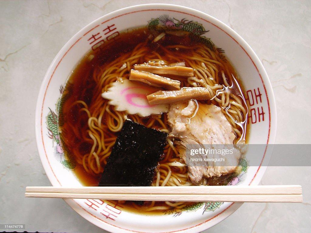Ramen noodles in bowl : Stock Photo