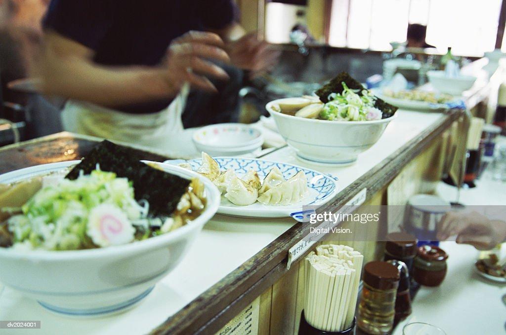 Ramen shop, Shinjuku, Tokyo, Japan : Stock Photo